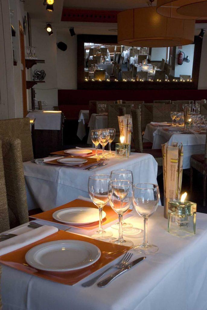 Mesas Restaurante El Olvido