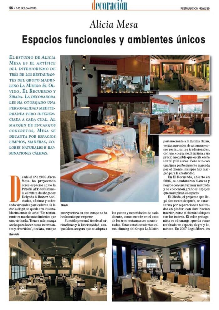 Revista Decoración Oct 2008: Espacios funcionales