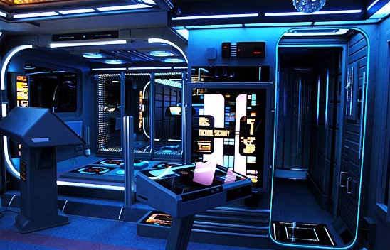 Salón al estilo Star Trek