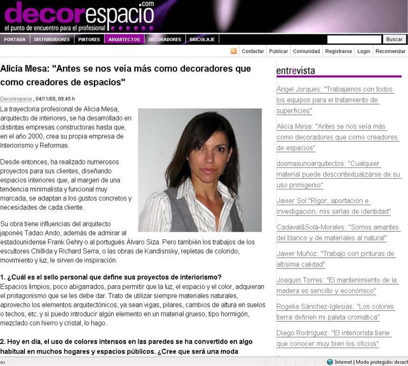 Decorespacio Alicia Mesa