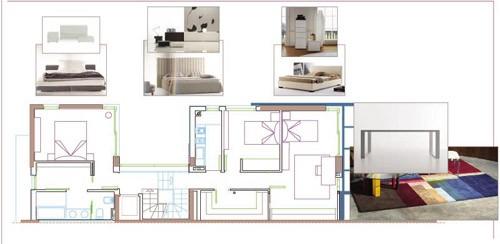 Plano decorativo dormitorio