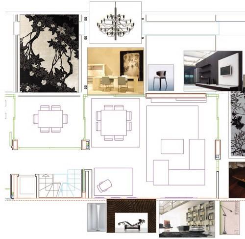Plano decorativo salón comedor