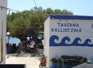Bar de playa en Creta
