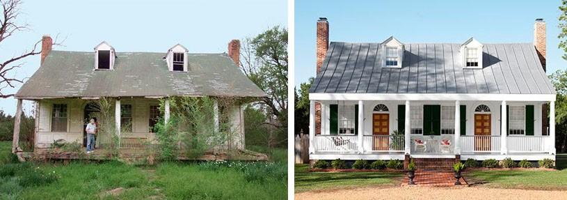 Antes y después de la casa de campo
