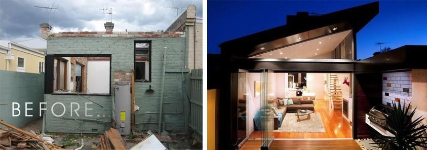 Antes y después de la terraza victoriana