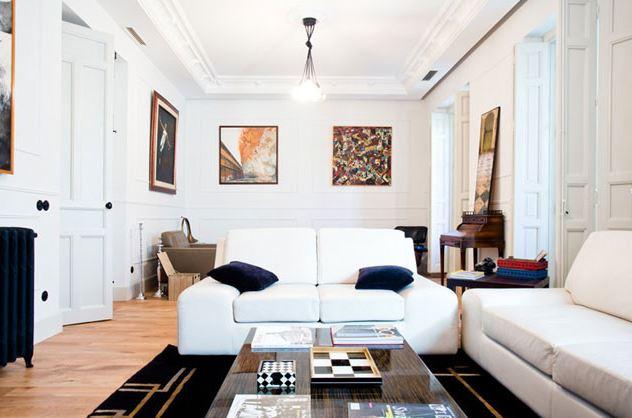 Reforma de salón en un piso clásico de Madrid