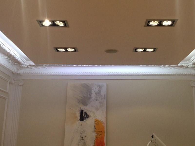 Iluminación en el techo