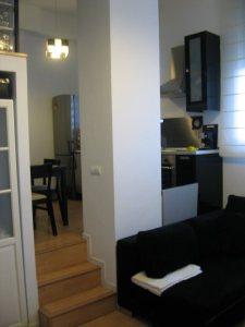 Salón y cocina en pequeños espacios