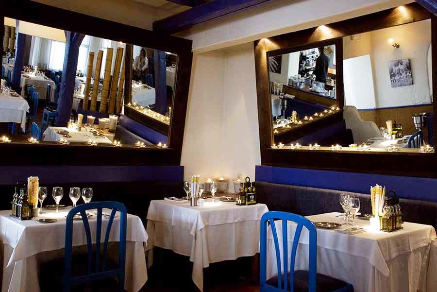 restaurante decoración espejos